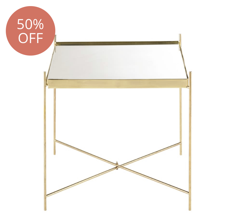 Gold Mirror Table £34.35