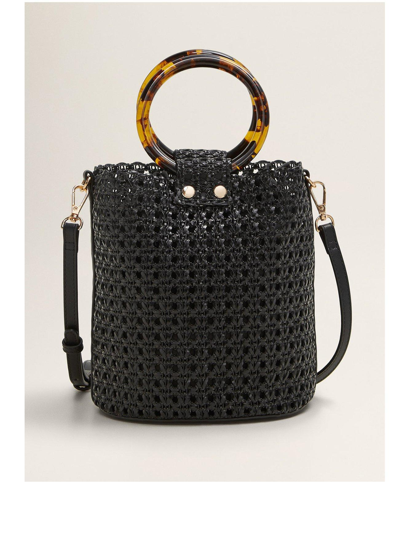 Mango Round Handle Woven, Black £58