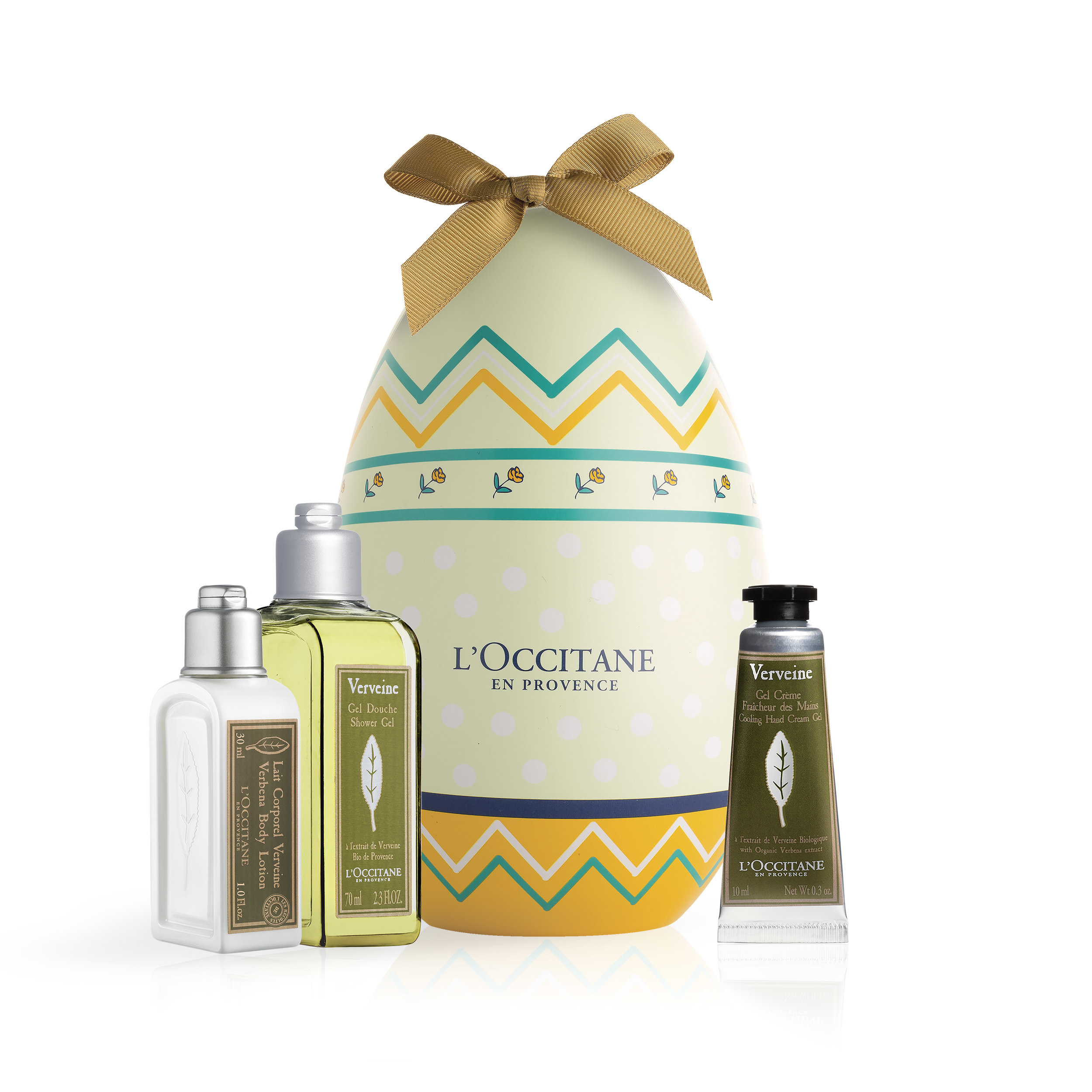L'OCCITANE Verbena Easter Egg with products .jpeg
