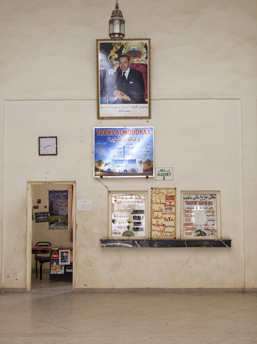 One month ago…..   Bus Station. Zagora, Morocco