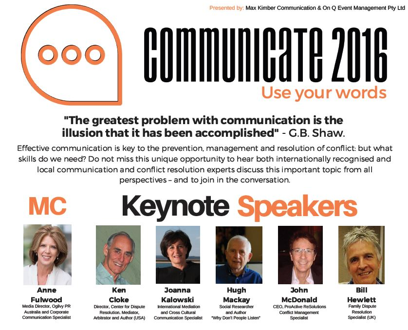 Communicate Conference 2016