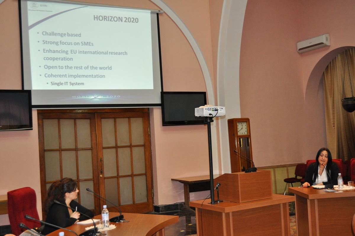 11. Anahit Khachikyan presenting Mari e Skłodowska-Curie Actions Program.JPG