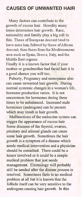 Causes of Unwanted Hair