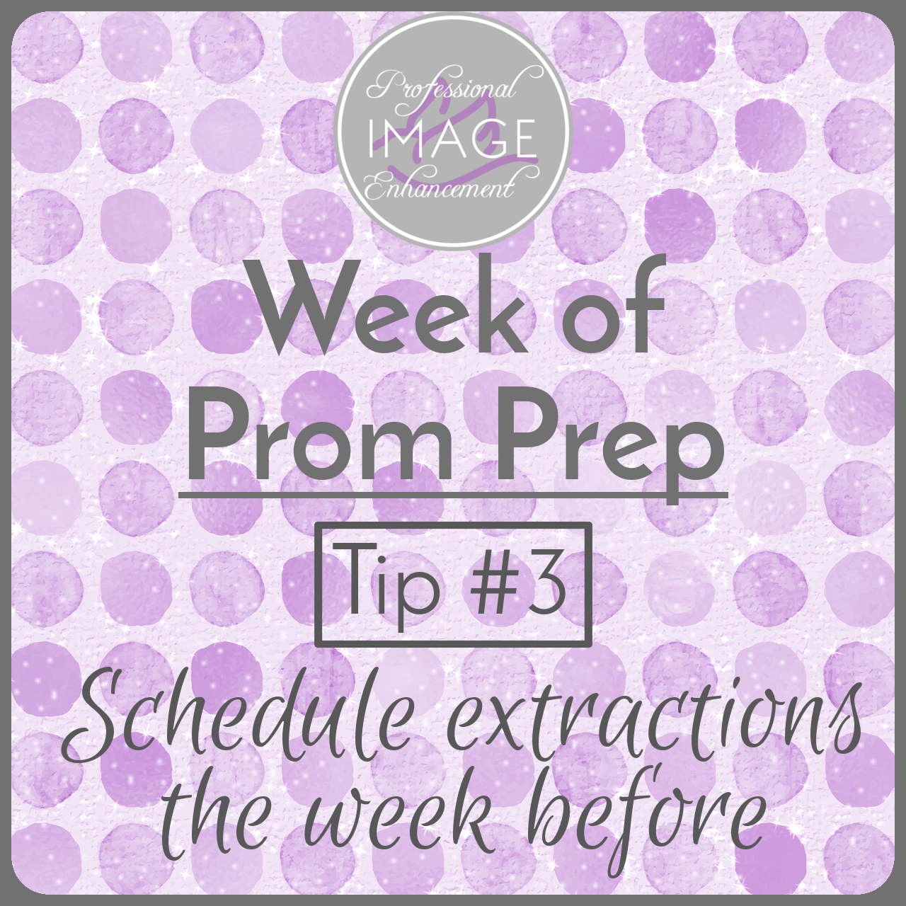 Tip #3: Schedule your extractions a week before