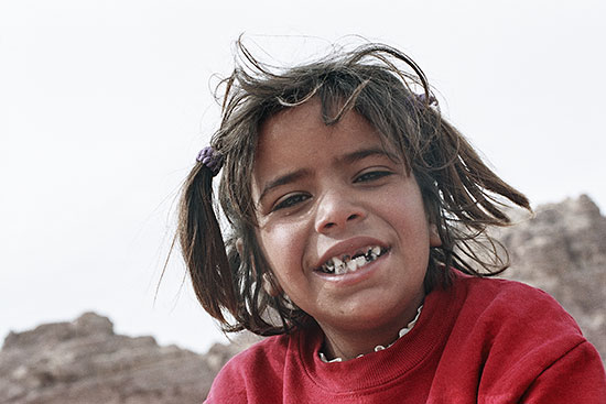 photo young girl petra jordan