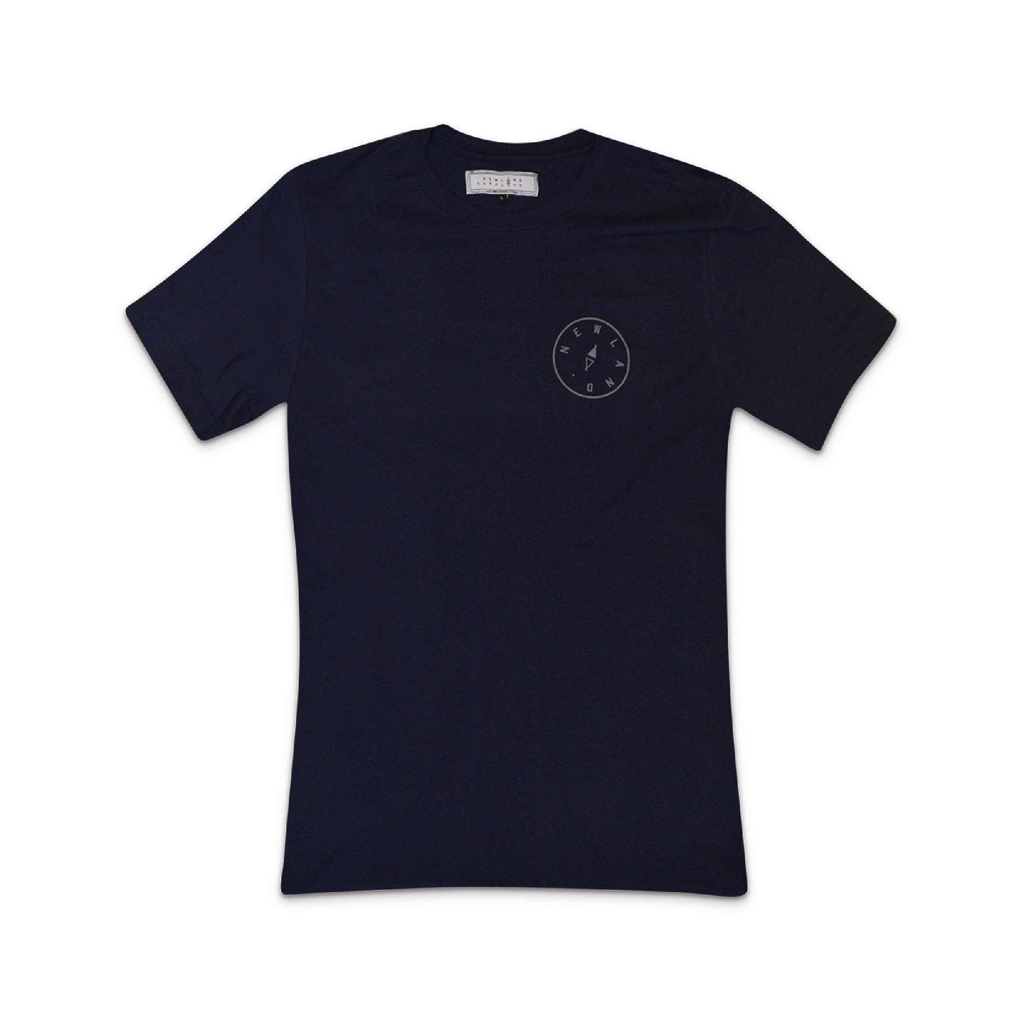 PEVERIL tee in NAVY    By  Newland Supply Co.     A ring-spun cotton classic with Newland print on the front & our compass detailing on the back.    SHOP NOW        £24