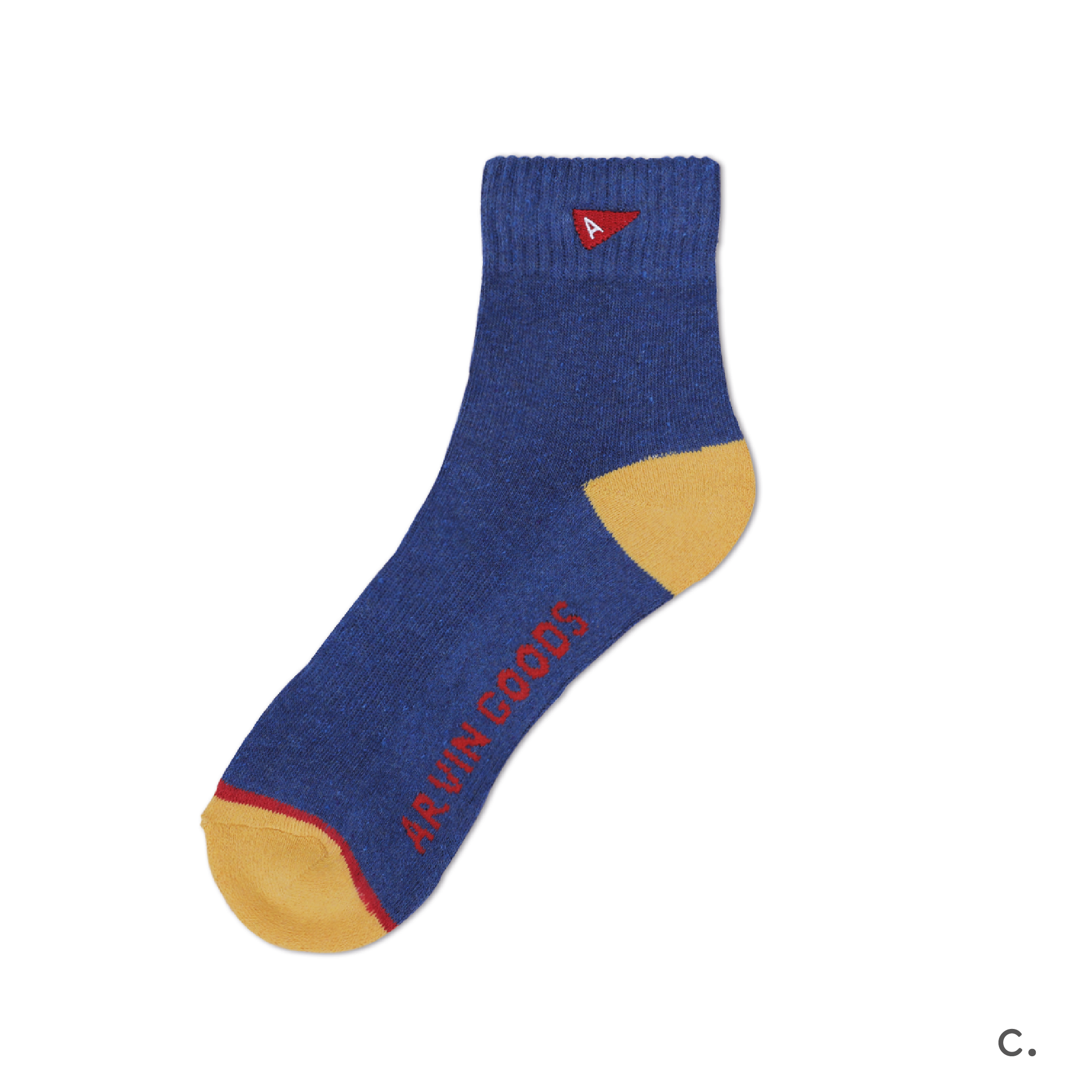 c. Blue & Yellow Crew Sock.png