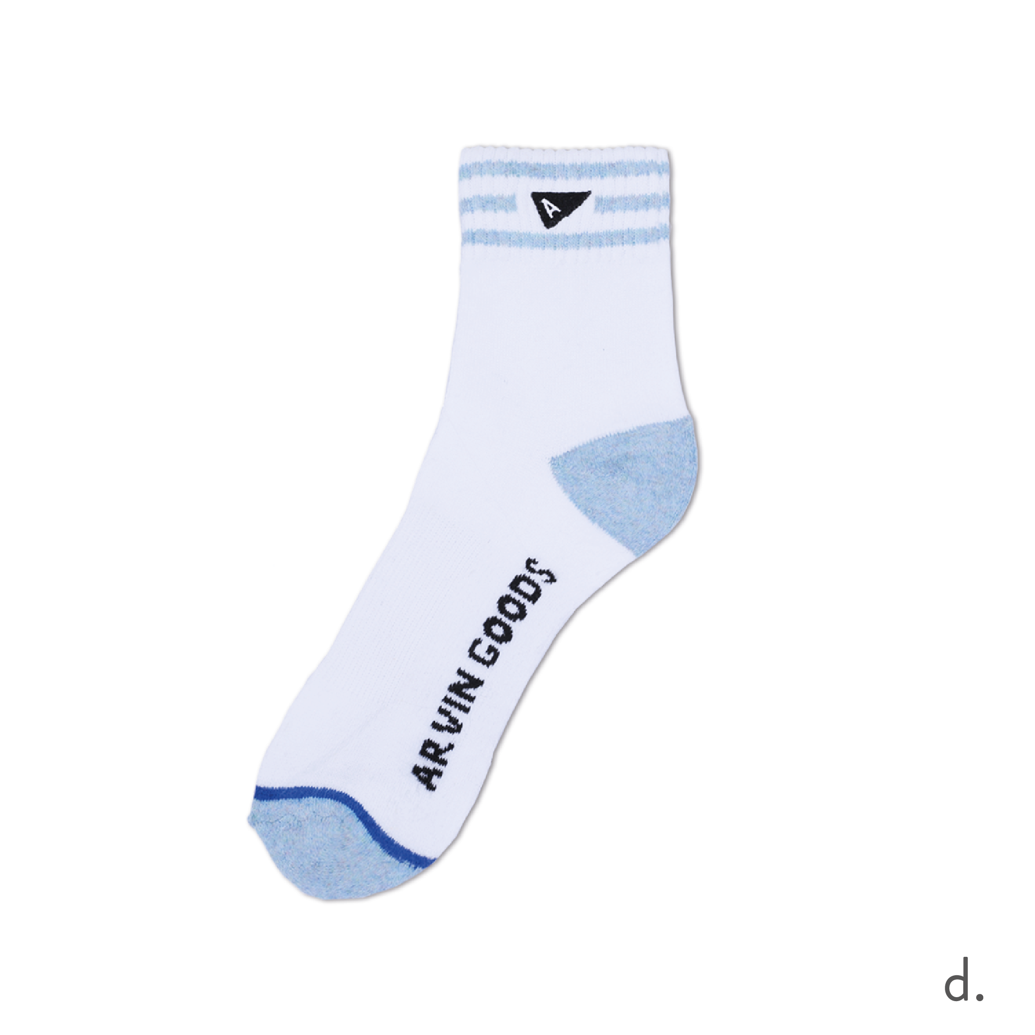d. Light Blue & White Crew Sock.png