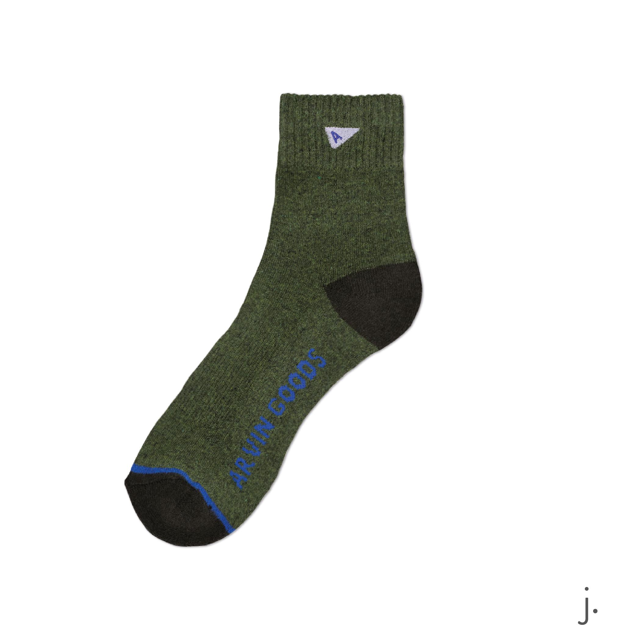 j. Dark Green & Green Crew Sock-01-01.png
