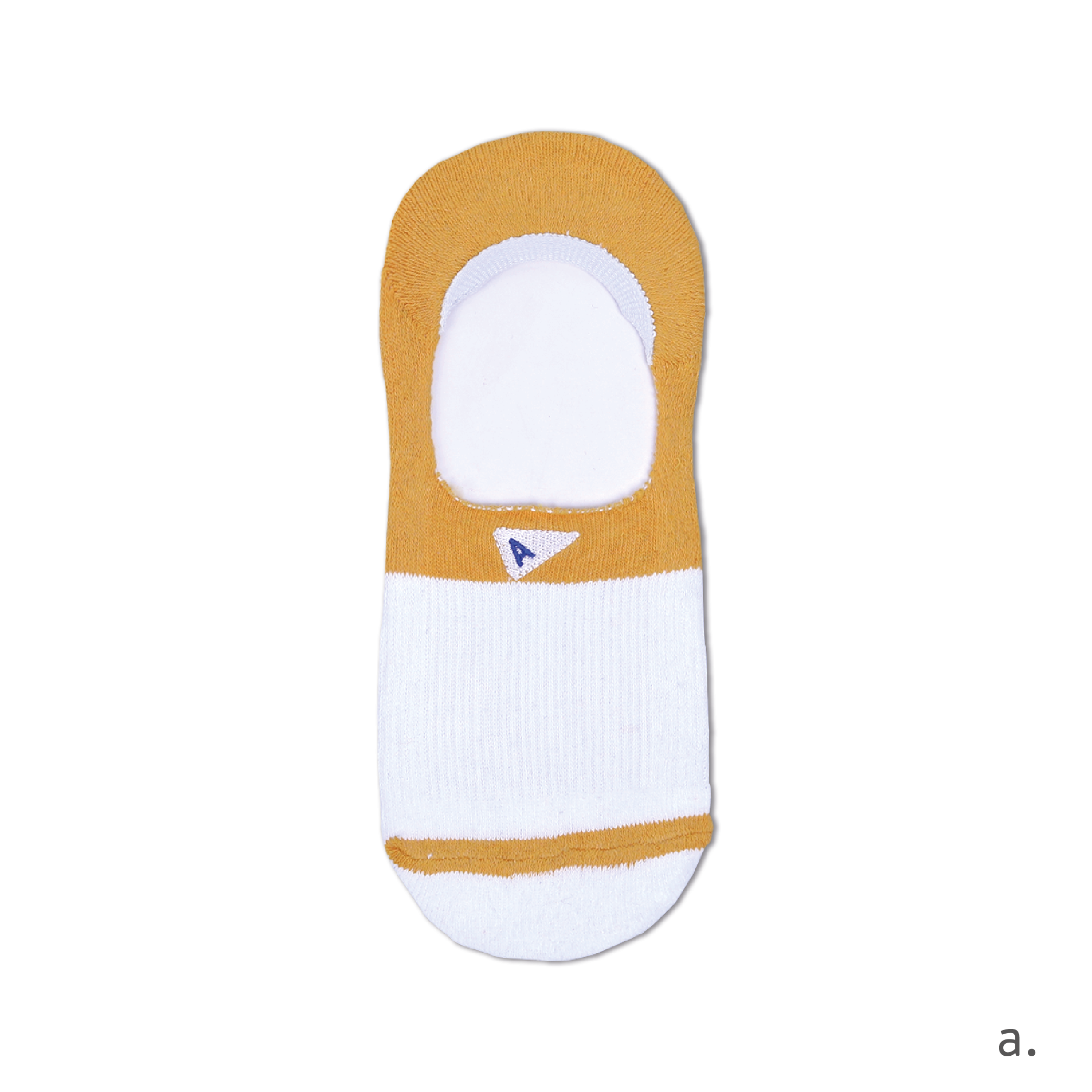 a. Yellow & White No Show Sock.png