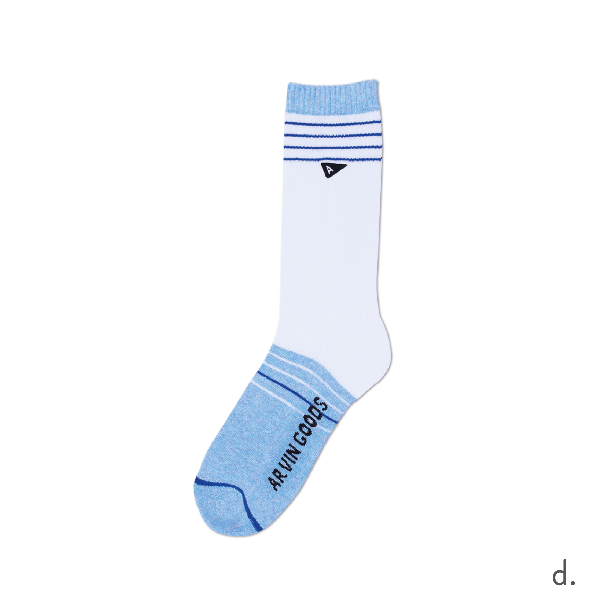 d. Light Blue & White Casual Sock-01.png