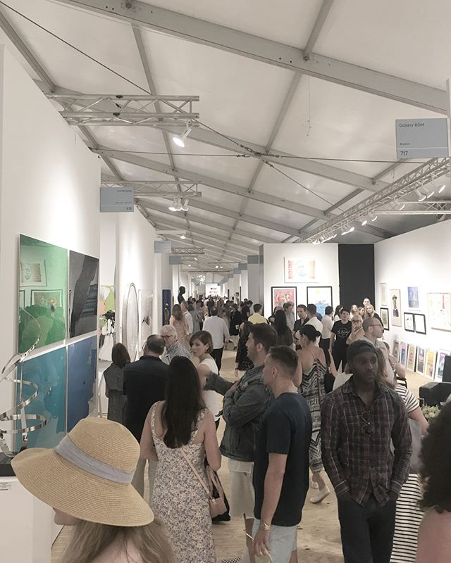 Scenes from opening night Art Market 2018 in Bridgehampton - @artmarketproductions #artanddesign