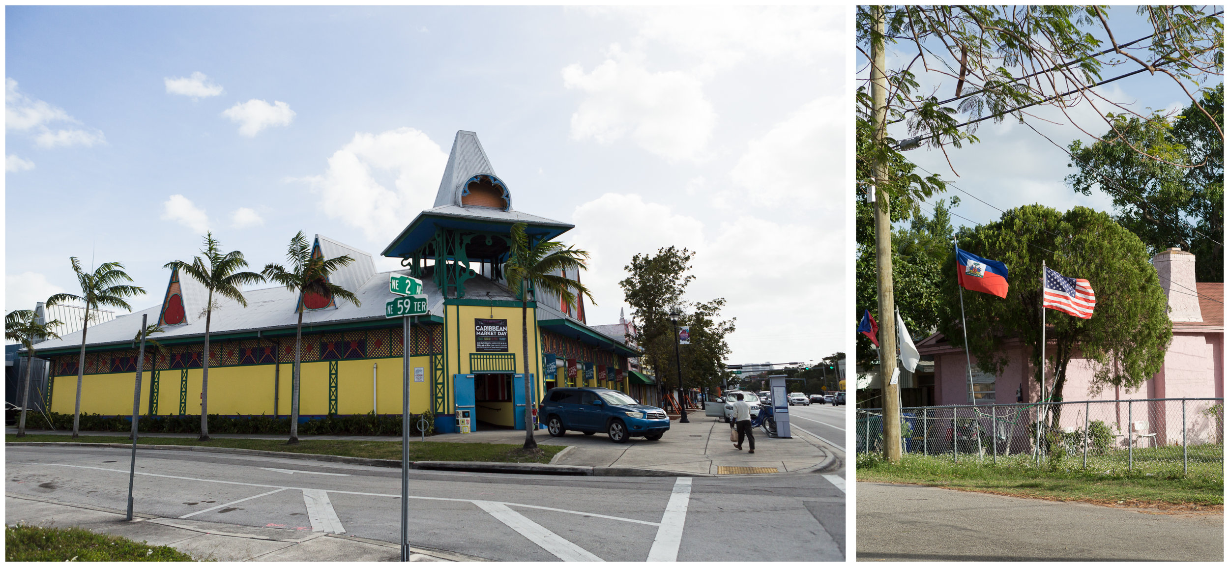 The Caribbean Marketplace located on NE 2nd Avenue and an American. The marketplace was built to drive more traffic into this part of town, which was once a cultural hub of the community. The building is still struggling to find its identity as the avenue continues to change.
