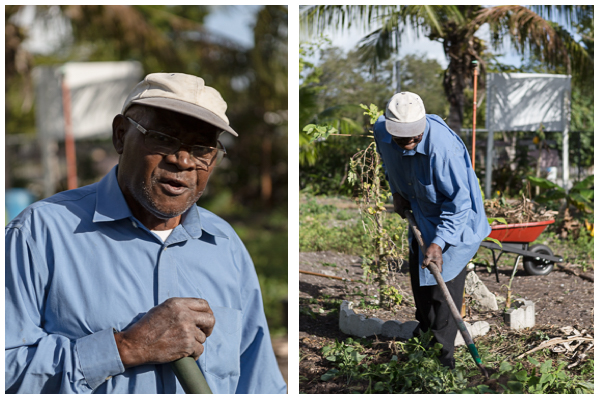 """I used to do gardening at home in Haiti, a lot of gardening. If you do hard work, it keeps you moving, it keeps you healthy.""  ""This is pretty good land, I wish I had this much land in my backyard. I'd make a big garden. I like to do garden work. As long as [Gary] owns this place, I know I could be here. I don't want him to sell it.""  Mr. Sully, age 80, has volunteered in the community garden for almost 10 years. It reminds him of the garden he used to have back in Haiti. During the school year, Mr. Sully also works at the local public school directing traffic."