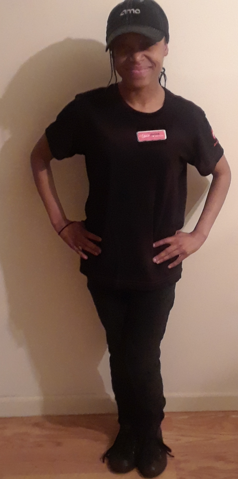 Janae S. - Can you describe your job at Amc Movie Theater? I am a greeter and usher. I make sure the lobby, concession, bathrooms and theaters are clean.What do you like about this job? I get to work with good coworkers and see moviesCan you tell us what you like to do for fun? I like to sing and act and dance in local plays.How long have you worked with Inroads? I have had a job coach at Inroads for 3 years.Can you describe your experience with Inroads to Employment?Inroads helped me create a resume. I started in assembly services. Once I did well (because I love baking), they helped me get a job at Mara Bakery and Cafe. Because I love acting, the job coach helped me get a job at the AMC and even when I have challenges, the job coach Harry comes to my job to talk to the managers.What would you tell someone like yourself about working with Inroads to gain employment support?Make sure you know what you want to do. Write down your wishes so the job coaches can help train you to get the dream job.What is your biggest dream? To become a singer, actor and worldwide baker.
