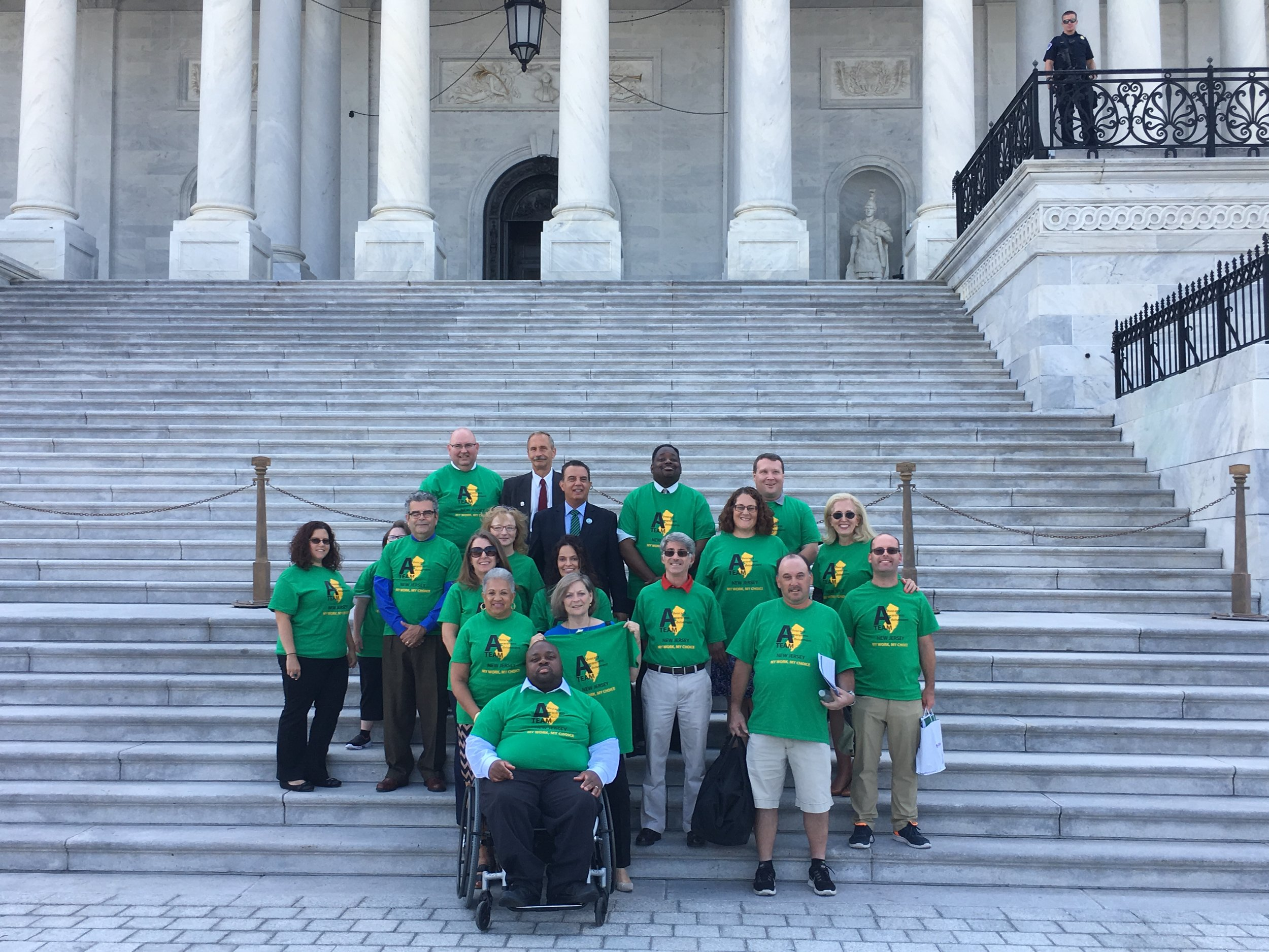 A-Team New Jersey advocates for disability rights in Washington D.C. in April 2019.