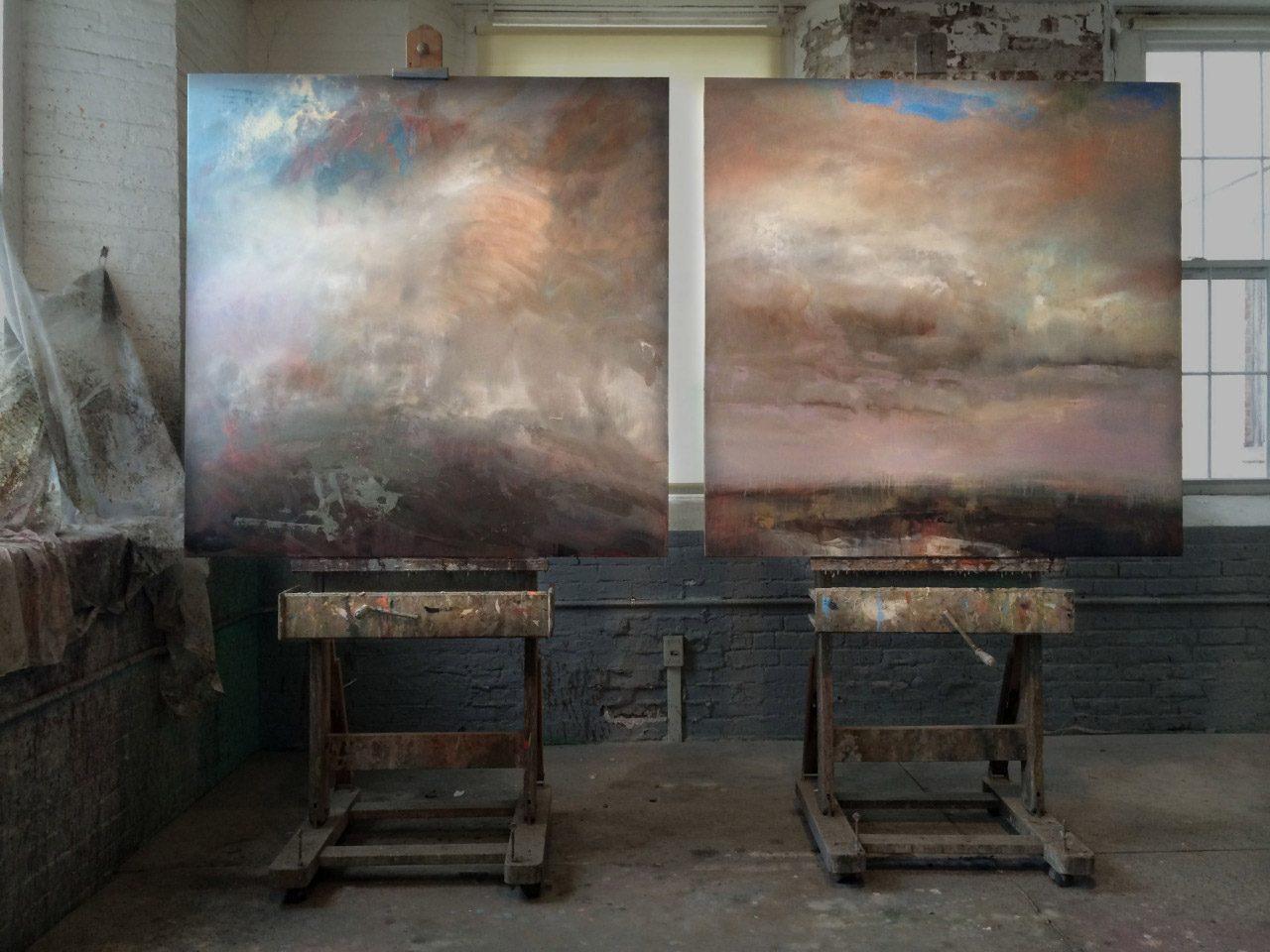 52 x 104 inches - diptych