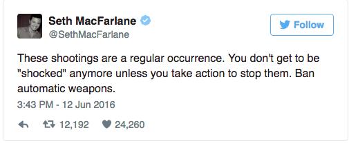 [MacFarlane Tweet] - Twitter - @SethMacFarlane