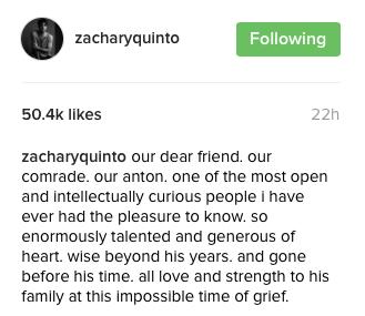 Instagram, Zachary Quinto @zacharyquinto