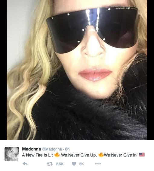 Twitter, @Madonna