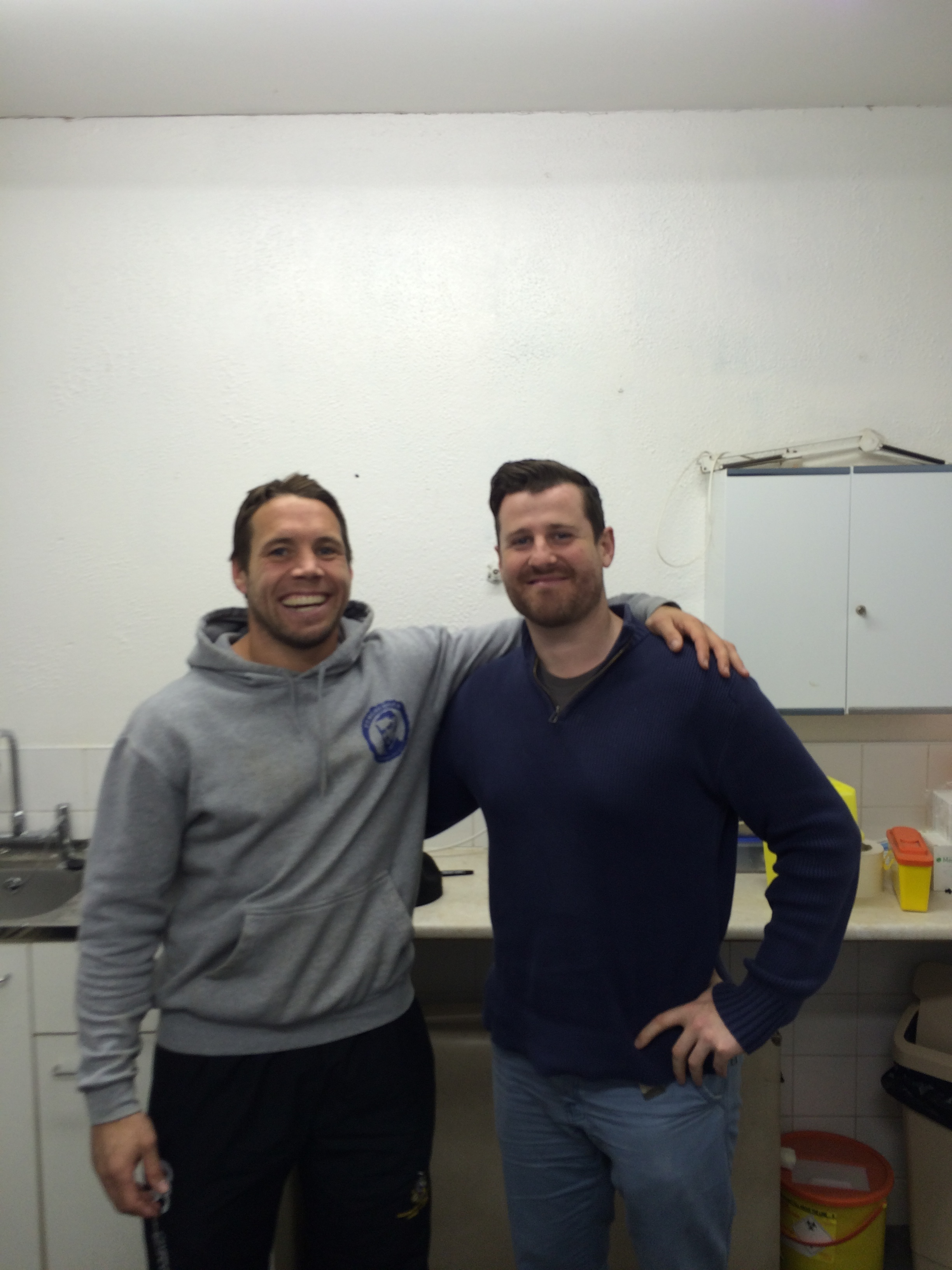Ireland & Leinster Rugby Player, Isaac Boss with Richard in PPT Clinic