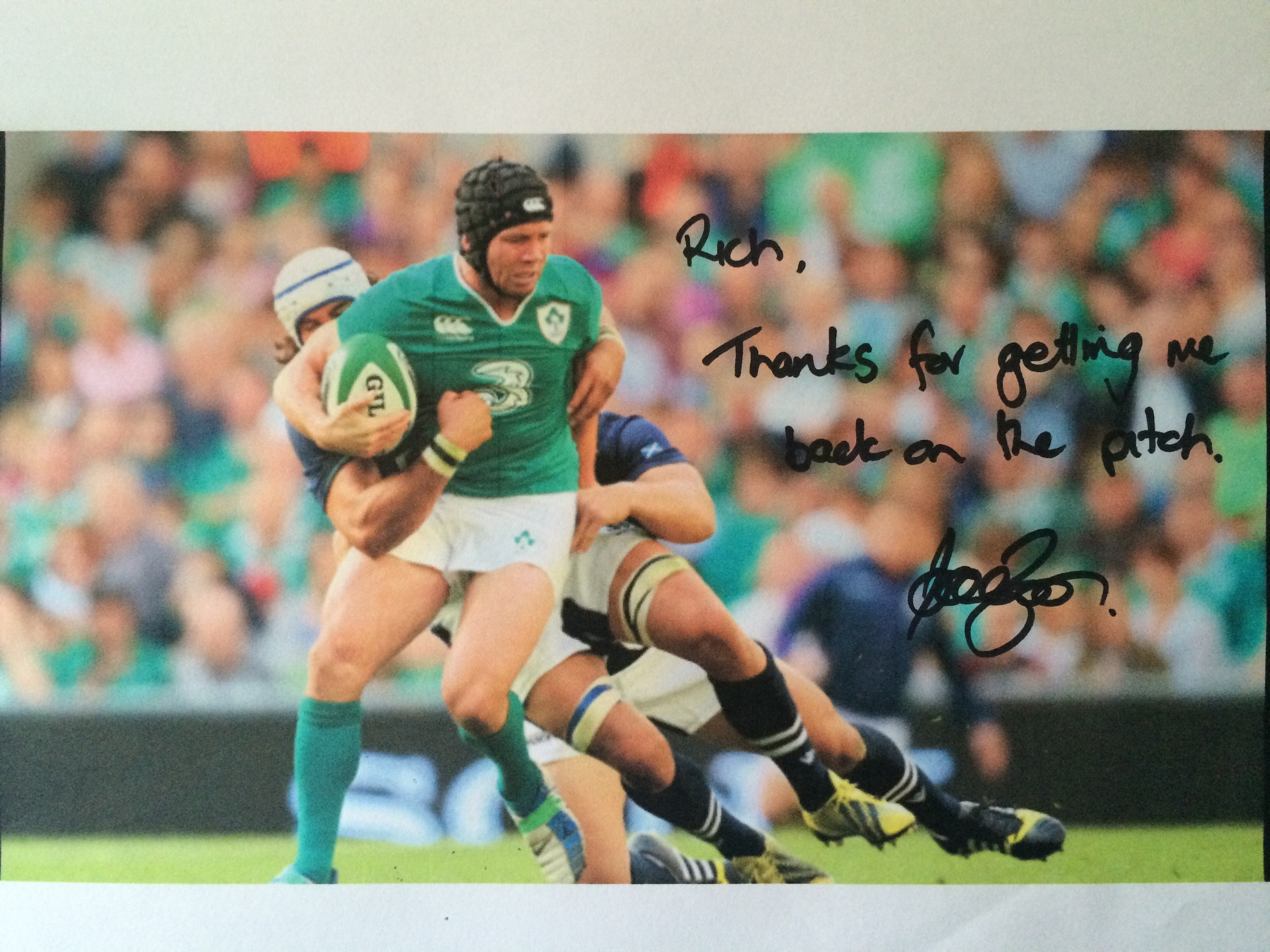 Ireland & Leinster Rugby Player, Isaac Boss. 'Rich thanks for getting me back on the pitch', Isaac Boss
