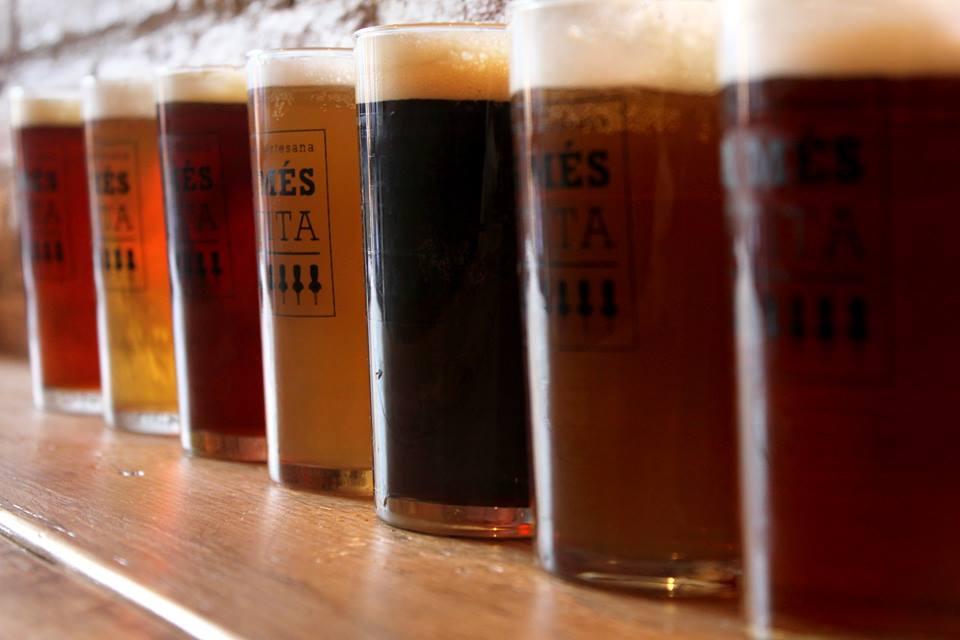"""11 p.m. :  Cervesería La Més Petita  """"I can get with a half pint shop that serves full pint beers. And good ones at that."""" c/Calabria 128; M: Espanya"""