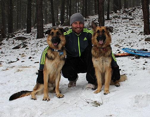 Joshua McCauley with His Shepherds