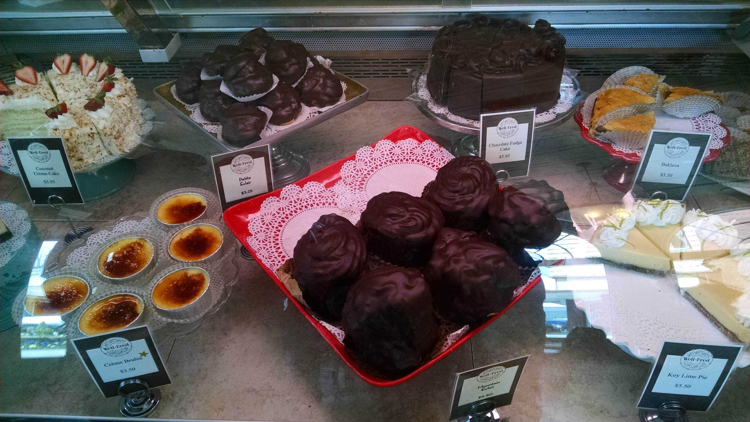 Goodies - an understatements! - at the Well Bred bakery in Weaverville