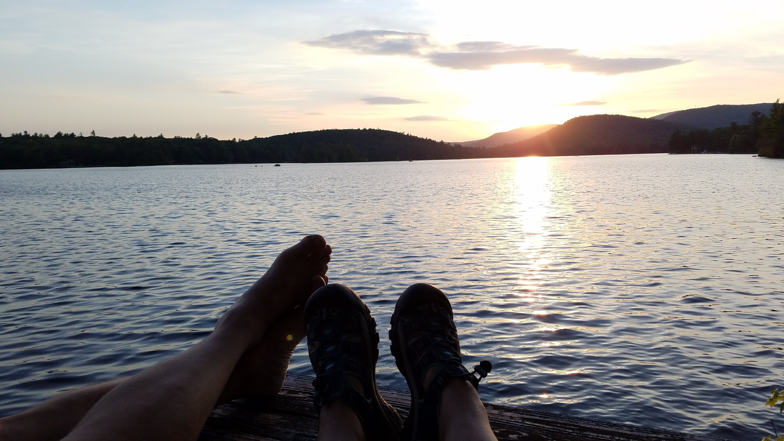 Relaxing at Sunset Lake June 11.jpg