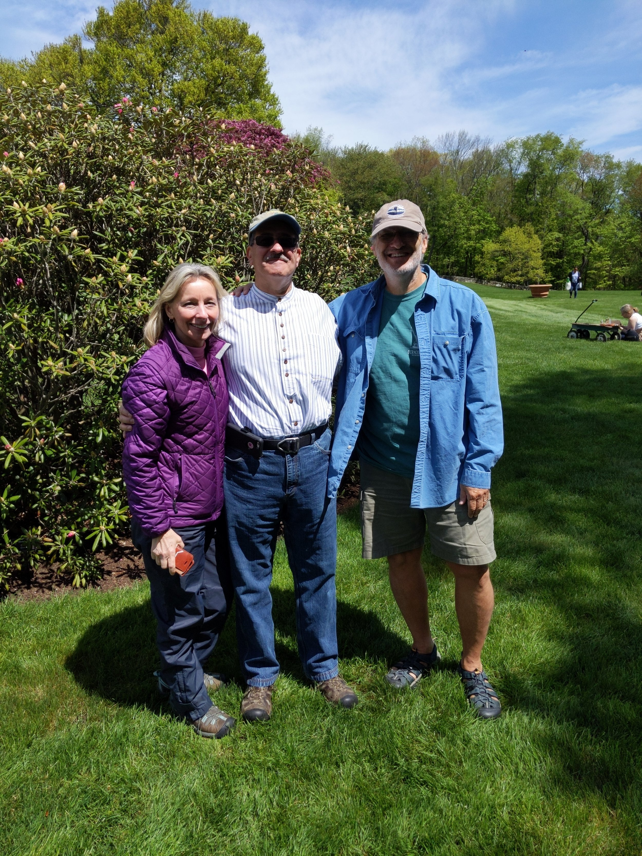 A most amazing chance encounter - Sue and Walt Swokla and I, with so many connections we weren't aware of prior to this meeting