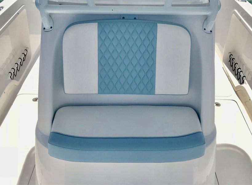 Console Front Seat - Comfortable console-front seat with backrest. Also boasts a built-in insulated 20 gallon cooler.