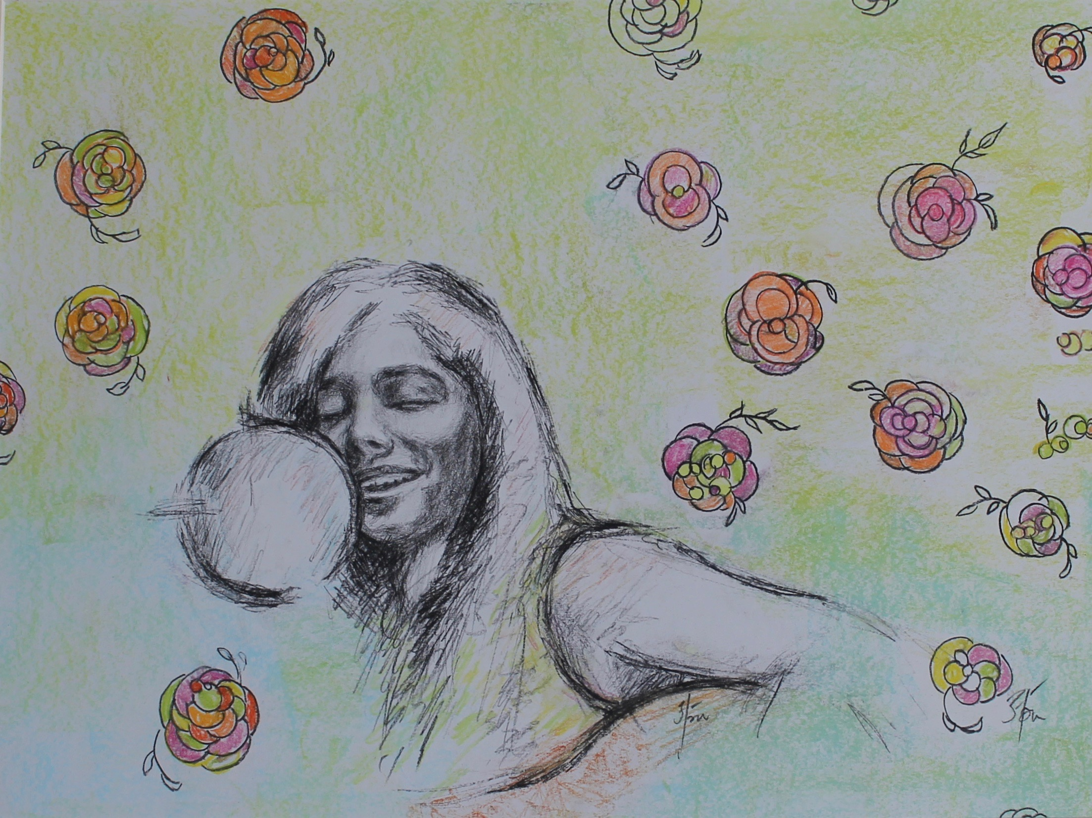 Gopal Aparajita,'Believe', Charcoal and pastel on paper , 14x18in, 2015.jpeg