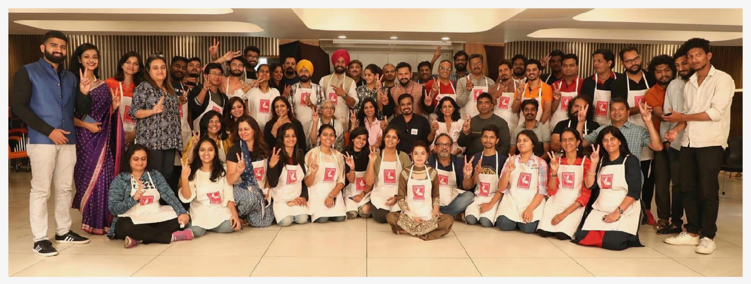 The whole gang! What a wonderful experience to meet your 'tribe'. Friends made, common interests discovered, knowledge shared, groups formed..a great time in all! Thanks to the team of Suchitra, Pramod, organiser Jaspreet & the other volunteers. Here's to many such more! :)