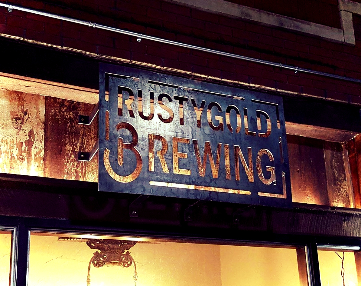rusty gold brewing entrance