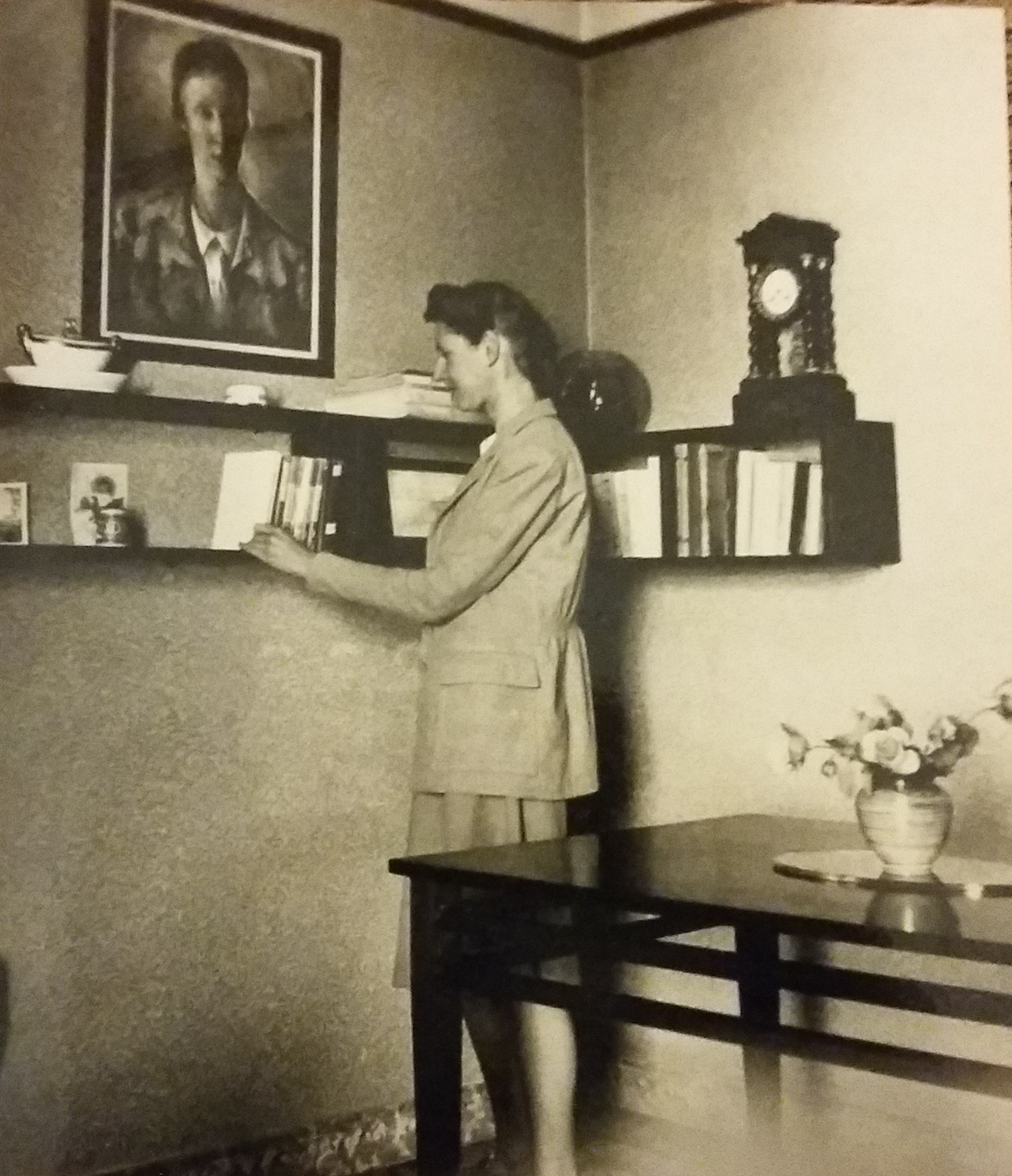 Mary in her flat in Perpignan.jpg