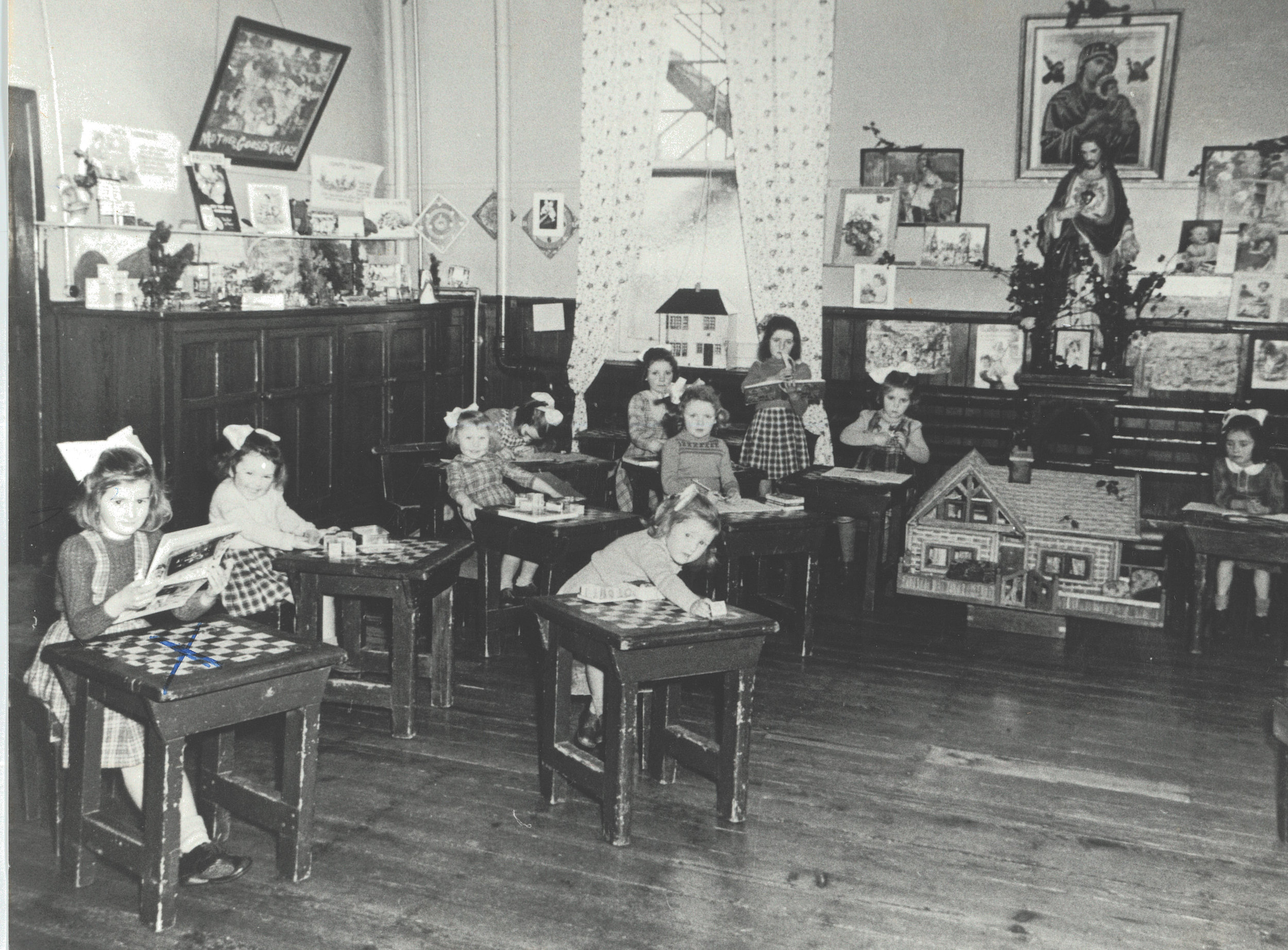 Mary (left) at the Good Shepard Industrial School