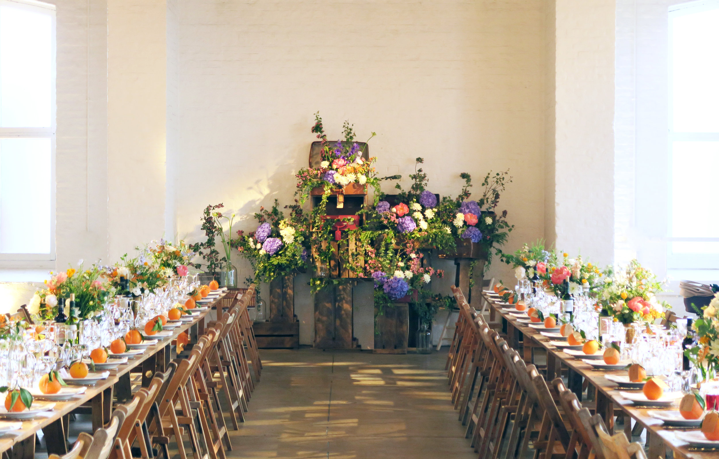 Table flowers and floral installation - A May wedding Theatre of Flowers.jpg