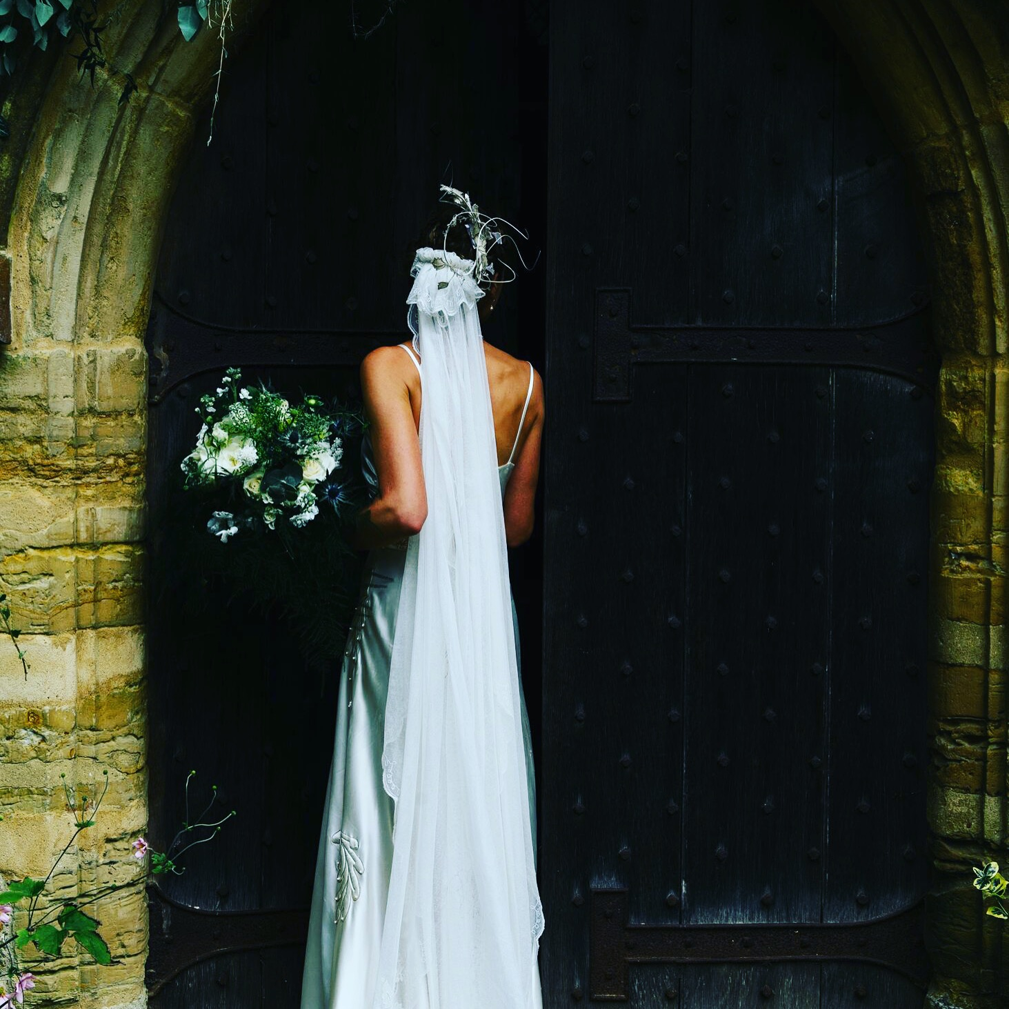 Ferns, Thistles, White Roses - September Bride