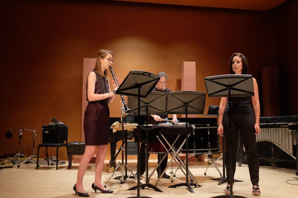 Doublespeak - (2014) soprano, clarinet percussion