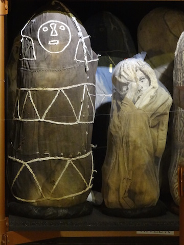 Two of the over 200 mummies on display at Leymebamba Museum.
