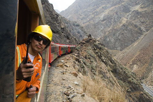 Lima - Huancayo Train - Engineer