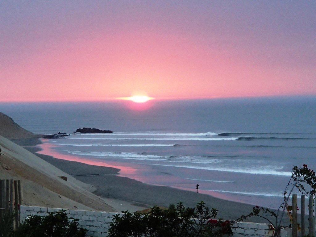 Chicama Beach at Sunset