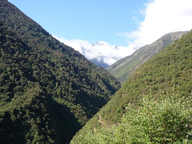 Salkantay Trek to Machu Picchu - Descent from Abra Salkantay