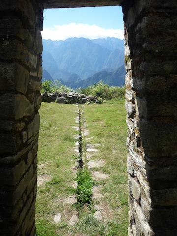 Salkantay Trek to Machu Picchu - Llactapata with view of Machu Picchu