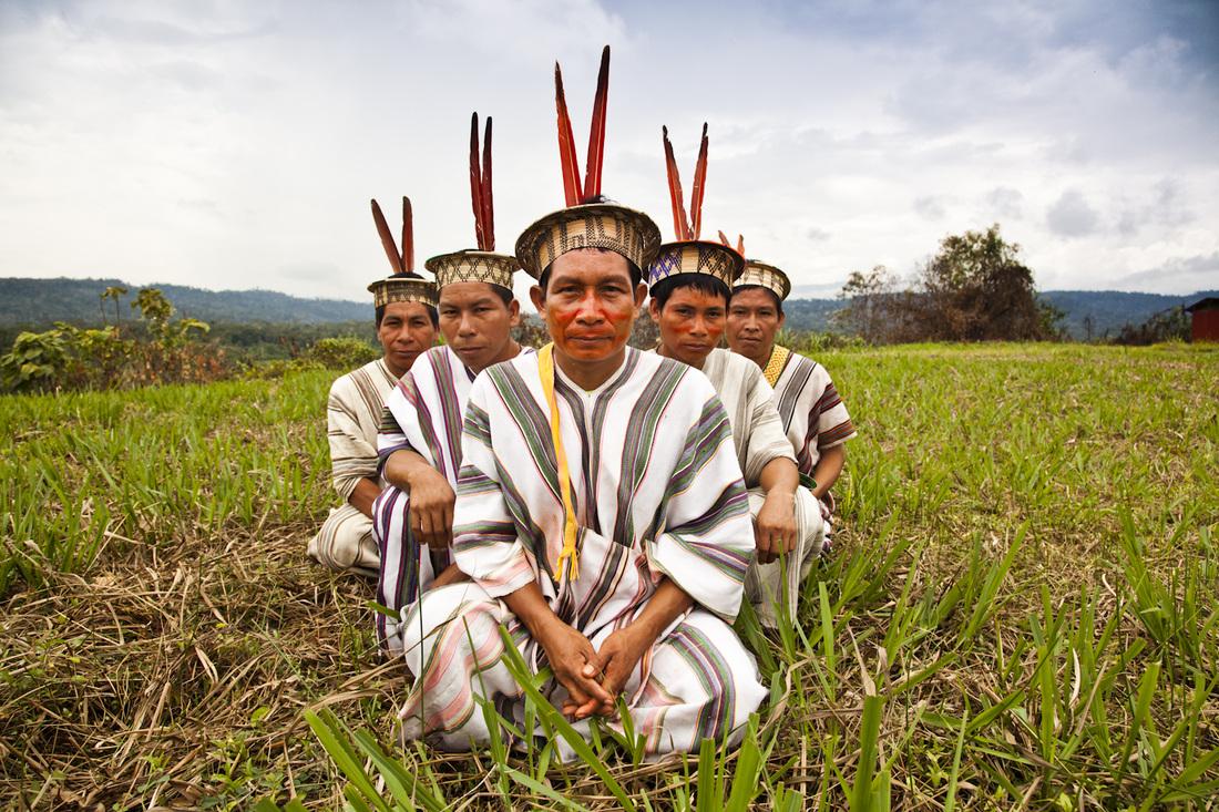 Ashaninka Community - Peru - Men in Traditional Dress