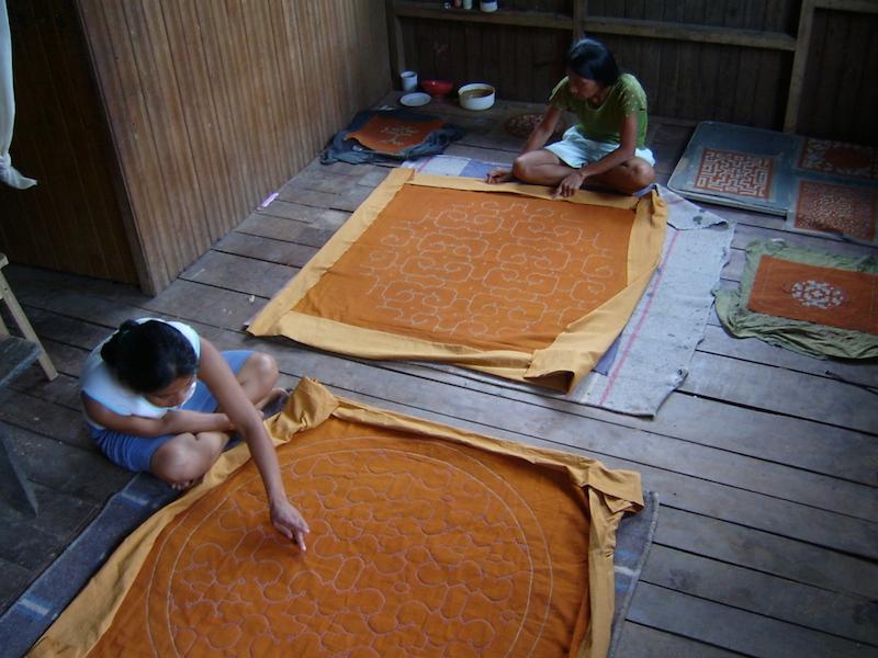 Shipibo-Konibo Textile - Muslin Design