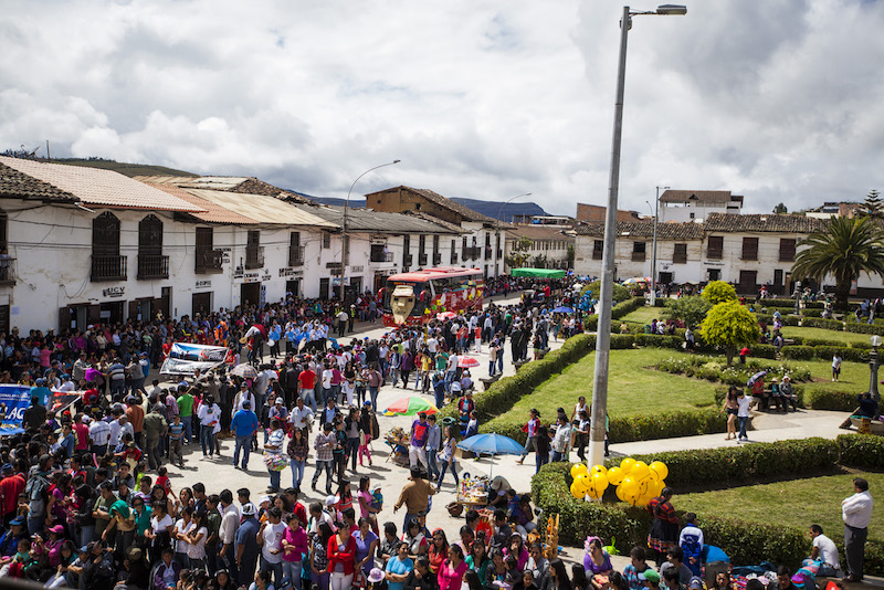 Chachapoyas' central square is the focus for much of the festival.