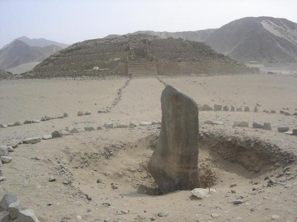 Caral, Supe - Stepped Pyramid & Obelisk