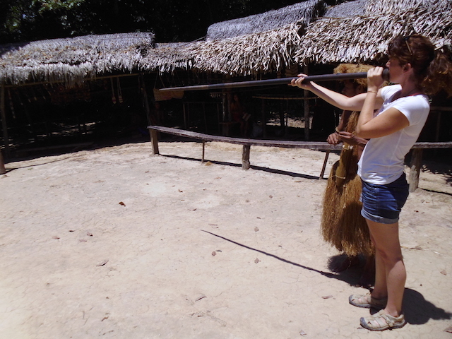 At the Yagua blowpipe range.